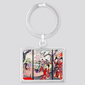 13 IN laptop sleeve Cherry Blos Landscape Keychain