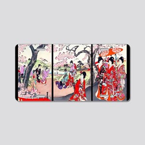 13 IN laptop sleeve Cherry  Aluminum License Plate