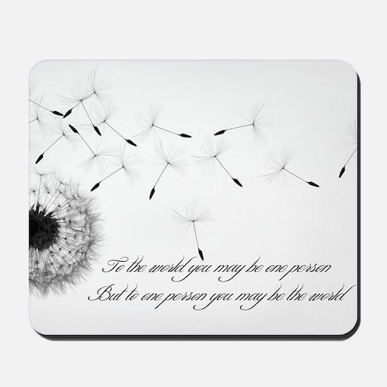 Dandelion Inspiration 2 Mousepad