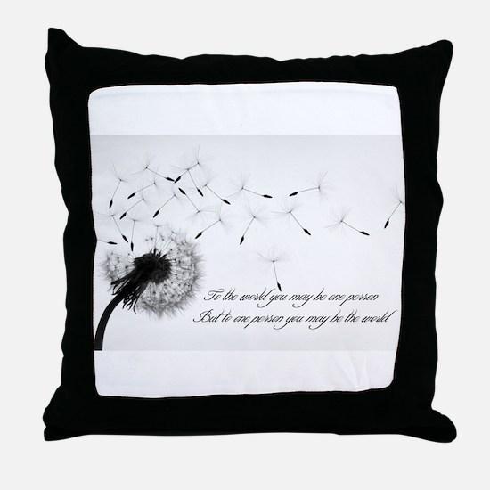 Dandelion Inspiration 2 Throw Pillow