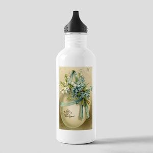 Vintage Easter Russuan Postcard Water Bottle