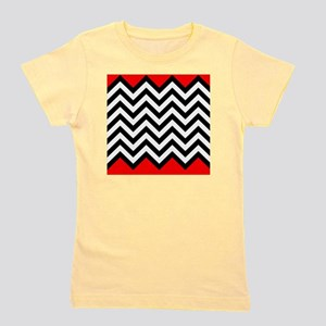 Black, white and Red chevrons 4 Queen D Girl's Tee