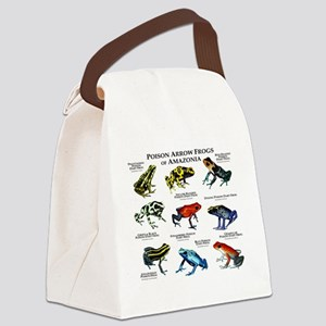 Poison Dart Frogs of Amazonia Canvas Lunch Bag