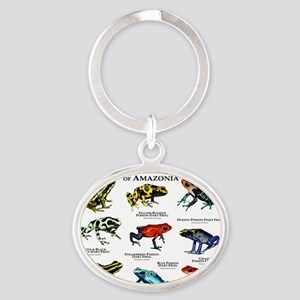 Poison Dart Frogs of Amazonia Oval Keychain