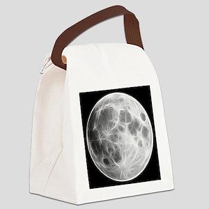 Full Moon Lunar Globe Canvas Lunch Bag