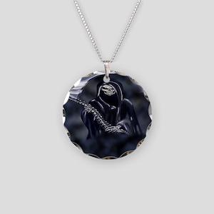 Grim Reaper (fl) Necklace Circle Charm
