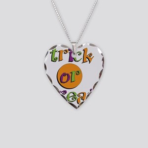 Trick or Treat 2 Necklace Heart Charm