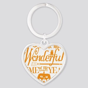 Most Wonderful (orange) Heart Keychain