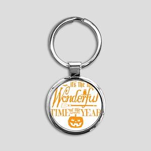 Most Wonderful (orange) Round Keychain