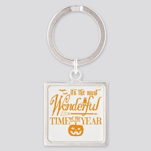 Most Wonderful (orange) Square Keychain