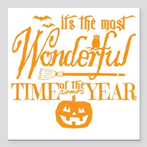 "Most Wonderful (orange) Square Car Magnet 3"" x 3"""