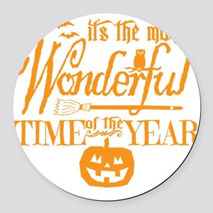 Most Wonderful (orange) Round Car Magnet