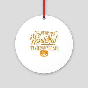 Most Wonderful (orange) Round Ornament