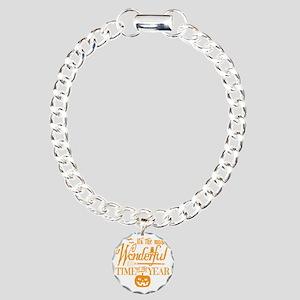 Most Wonderful (orange) Charm Bracelet, One Charm