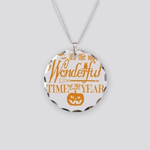 Most Wonderful (orange) Necklace Circle Charm