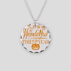 Most Wonderful (orange) Necklace Circle Charm