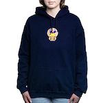 Baby Peeking Behind Cupcake Hooded Sweatshirt