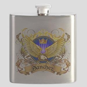 Sanchez Family Crest Flask