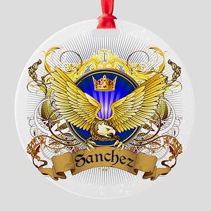 Sanchez Family Crest Round Ornament