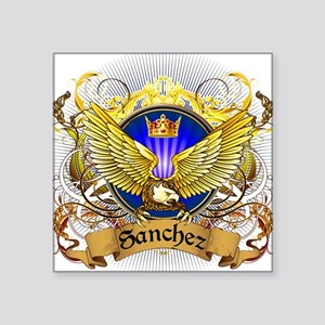 "Sanchez Family Crest Square Sticker 3"" x 3"""