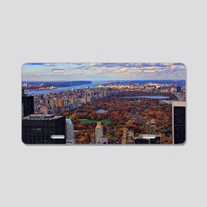 Central Park in Autumn, A v Aluminum License Plate