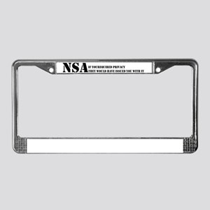 NSA privacy issue License Plate Frame