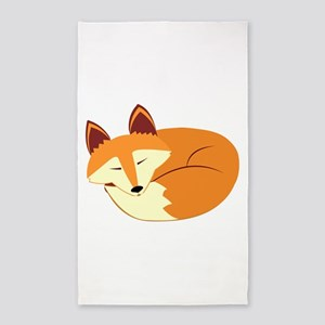 Cute Sleeping Fox 3'x5' Area Rug