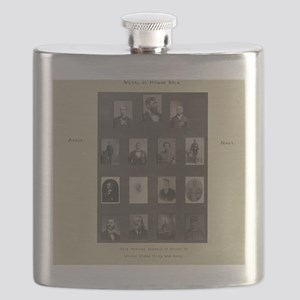 Medal of Honor Collage Flask