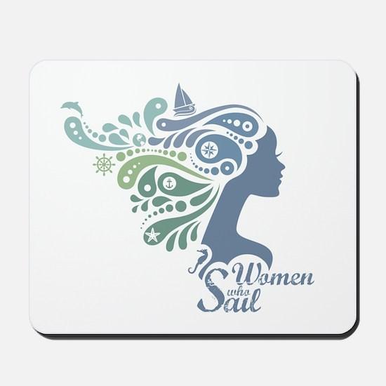 Woman Who Sail Logo Mousepad