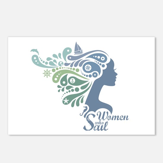 Woman Who Sail Logo Postcards (Package of 8)