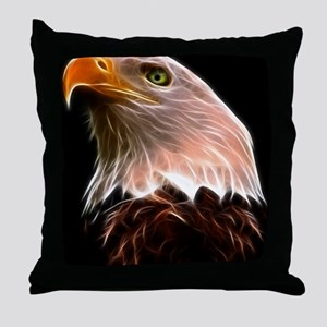 American Bald Eagle Head Throw Pillow