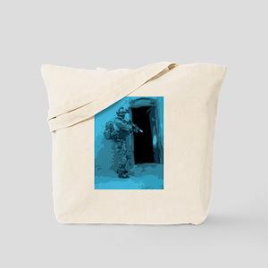 Ranger prepares to enter the unknown Tote Bag