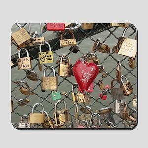 Lovers Bridge Paris, France Mousepad