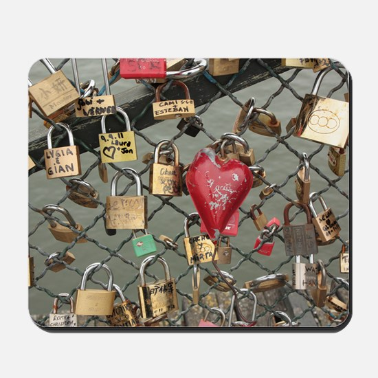 Lovers Bridge Paris, France Mousepad