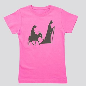 Mary and Joseph and Donkey Girl's Tee