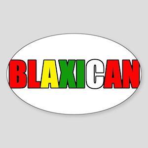 Blaxican Oval Sticker