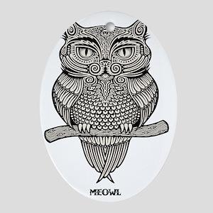meowl-LTT Oval Ornament