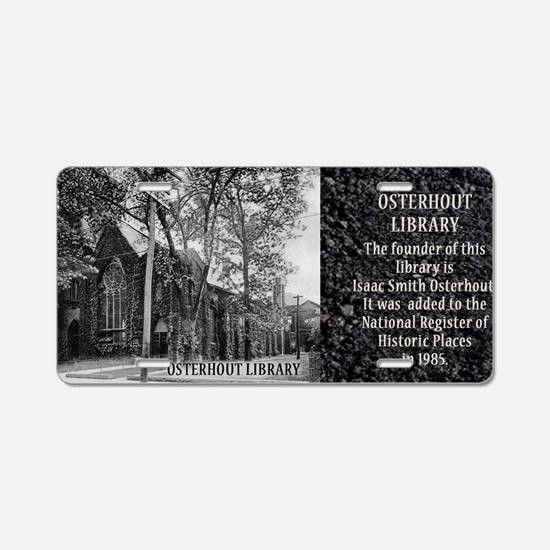 Osterhout Library Historica Aluminum License Plate
