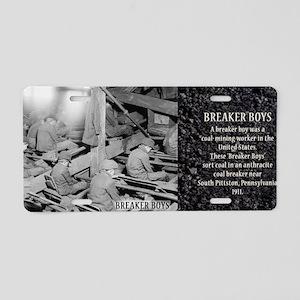 Breaker Boys Historical Aluminum License Plate