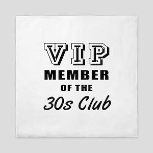 30's Club Birthday Queen Duvet