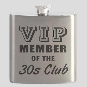 30's Club Birthday Flask