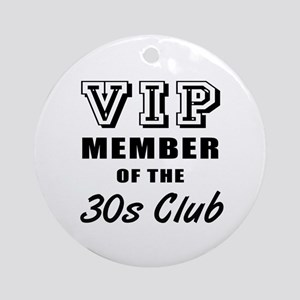 30's Club Birthday Ornament (Round)