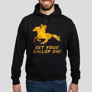 Horse Gallop On Hoodie (dark)