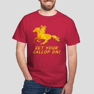 Horse Gallop On Dark T-Shirt