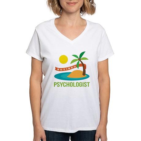 Retired Psychologist Women's V-Neck T-Shirt