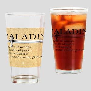Paladin - Lawful good guy Drinking Glass