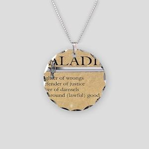 Paladin - Lawful good guy Necklace Circle Charm