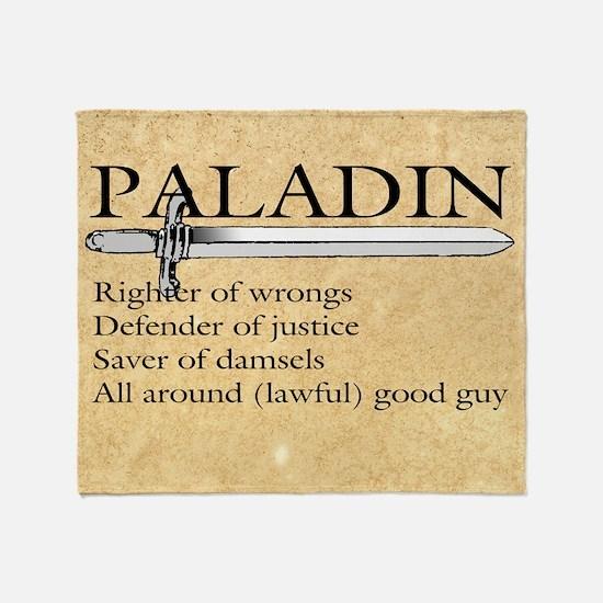 Paladin - Lawful good guy Throw Blanket