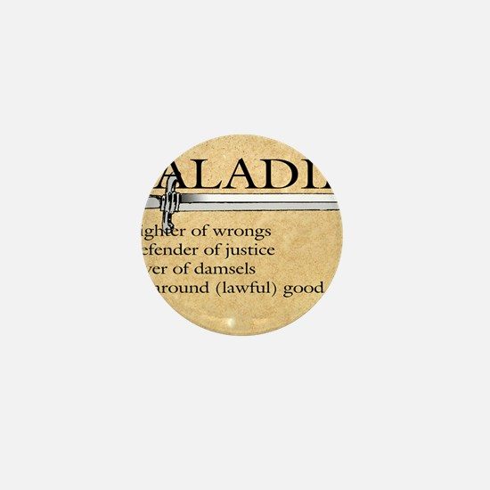Paladin - Lawful good guy Mini Button