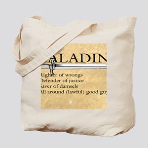 Paladin - Lawful good guy Tote Bag